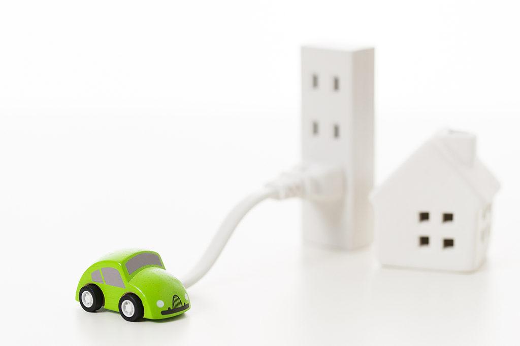 電気自動車(EV車)の充電設備イメージ