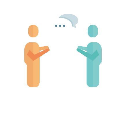 小さな声での会話